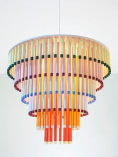The Cocktail Pendant Lamp Design by Hanna Anonen for Hakola The Cocktail pendant by Hakola is a colourful, cheery take on the traditional chandelier, inspired by fizzy drinks and delicious layered… Diy Pendant Light, Pendant Light Fixtures, Pendant Lamps, Pendant Lights, Large Pendant Lighting, Pendants, Pierre Marie, Architecture Restaurant, Deco Luminaire
