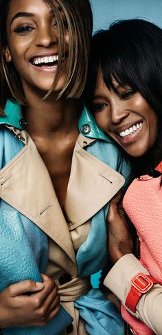 Shooting the new season - Burberry campaign stars Naomi Campbell and Jourdan Dunn in S/S15 trench coats
