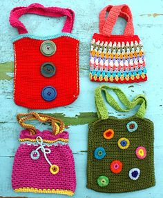 crochet purses for the grand girls