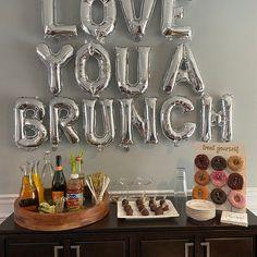 Love you a Brunch party ideas - Wonderful decors Brunch Party Decorations, Brunch Decor, Brunch Ideas, Brunch Table Setting, Brunch Food, Brunch Recipes, Party Decoration Ideas, Dinner Ideas, Table Settings