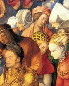 Albrecht Durer  Adorazione della SS. Trinità  1511   Olio su tavola  135 x 123,4 cm  Kunsthistorisches Museum, Vienna