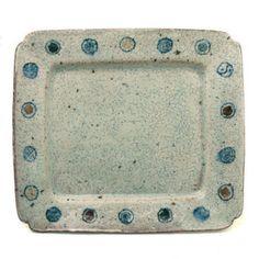小紋長角皿・8×7寸・杉本太郎