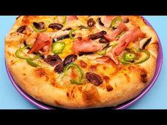 Reteta aluat de pizza ca la pizzerie I Pizza salami I Pizza cu sunca, porumb si ciuperci - YouTube