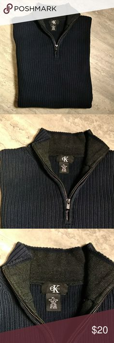 721857cf720 Shop Men s Calvin Klein Blue size XL Sweaters at a discounted price at  Poshmark.