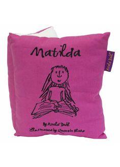 Roald Dahl Matilda Book Cushion from Ashley Wilde : Main Childrens Beds, Luxury Bedding Sets, Roald Dahl, Bedroom Accessories, Matilda, Book Design, Kids Room, Cushions, Pillows