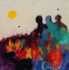 "Daily+Paintworks+-+""Fire+Walkers""+-+Original+Fine+Art+for+Sale+-+©+Kerri+Blackman"