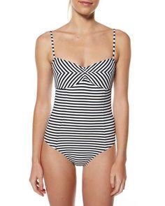 SURFSTITCH - WOMENS - SWIMWEAR - ONE PIECE - VOLCOM SLIGHTLY STONED ONE PIECE - STRIPE Classy Outfits, Beautiful Outfits, Luxury Swimwear, Modest Swimsuits, Swimsuit Cover Ups, One Piece Swimwear, Fashion Fabric, Costume, Beachwear