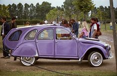 Purple Citroen: French Car • citroen 2CV