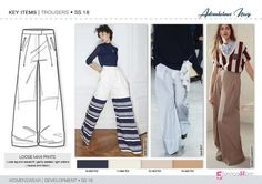 Discover the new SS18 TROUSER & SKIRT development designs by 5forecaStore Fashion trend forecasting.