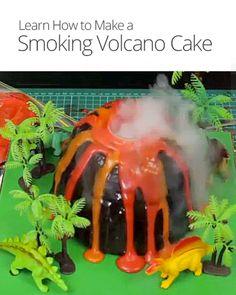 How to Make a Smoking Volcano Cake