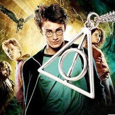 Harry Potter Deathly Hallows Triangle Pendant Necklace – Superhero Universe