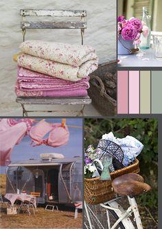 El Papel Mulberry: Adoro esas mantitas, los estampados de las telas y la combinacion colores!
