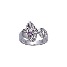Mermaid Sterling Silver Ring TR3434