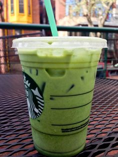Make an iced green tea latte like this one at home.