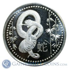 DAILY DEAL MAY 13, 2014: 2013 1 oz Silver Year of the Snake Round (.999 Pure Silver) ONLY .55 CENTS OVER SPOT http://www.gainesvillecoins.com/
