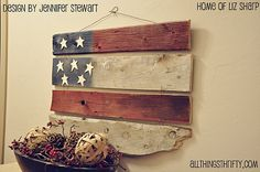 barn wood flag