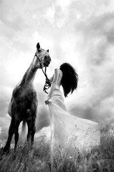 Beauty with a horse