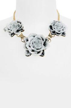 { Floral Statement Necklace }