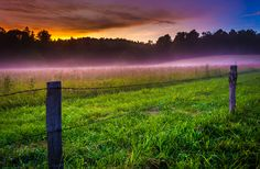 Sunrise in Cades Cove, Tennessee