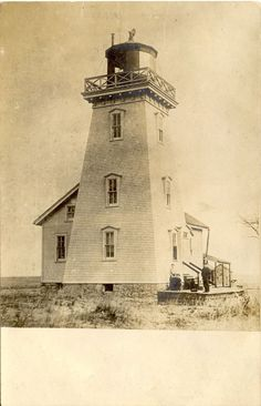 Old Cut Long Point Lighthouse, Lake Erie (ca courtesy Maritime History of the Great Lakes via OurOntario.ca