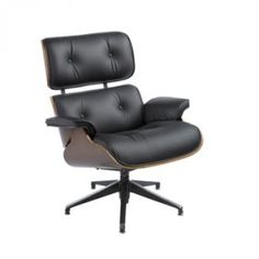 Black Leather Eames Style Lounger available for hire from Funky Furniture Hire. This design classic is effortlessly cool and is ideal at exhibitions. Funky Furniture, Wow Products, Eames, Black Leather, Chair, Friday, Colour, Inspiration, Inspired