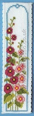 Buy Hollyhocks Bookmark Cross Stitch Kit Online at www.sewandso.co.uk