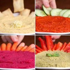 Homemade Hummus 4 Ways