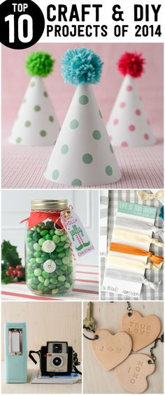Top 10 DIY & Craft Projects of 2014 -lots of fun craft ideas and free printables