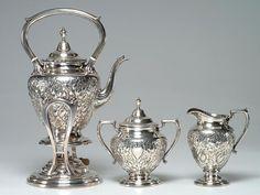 1940's WALLACE Sterling Silver Tea Set  by vintagebitsblitz, $1950.00