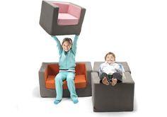 Monte Design Modern Nursery Furniture - cubino chair & loveseat