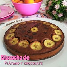 Fit Happy Meals: Bizcocho de plátano y chocolate