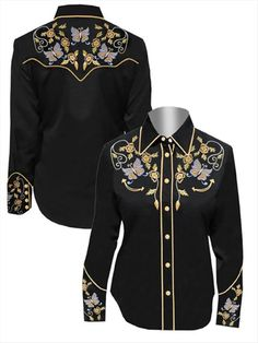 vintage western shirts gorgeous embroidery #wardrobechallenge