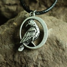Aliexpress.com : Buy 1pcs Free shipping Double sided raven necklace Black Bird In Moon Crow  Warrior Odin's  pendant art handmade jewelry from Reliable necklace knife suppliers on Jewelry's World