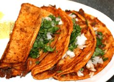 Tacos are the best. Authentic Mexican Recipes, Mexican Food Recipes, Real Mexican Food, Mexican Cooking, Plats Latinos, Traditional Mexican Food, Food Porn, Mexico Food, Comida Latina