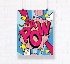 Kapow Customizable Pop Art Comic Book Illustration High