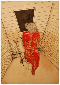 Drawing - II by Levan Ochkhikidze, via Behance Behance, Fine Art, Drawings, Illustration, Sketches, Illustrations, Drawing, Visual Arts, Portrait