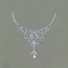 dessin de bijou, licorne sirene dauphin réunis, collier haute joaillerie, Tony FURION https://www.facebook.com/tonyfuriondesigns