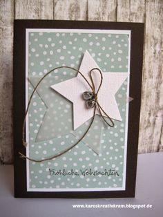 Einfache Weihnachtskarte: diesmal mit zwei Sternen :-)