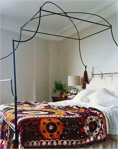 Eclectic vintage bohemian bedroom