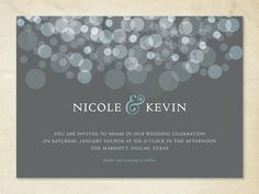 Simple invites  Etsy listing at http://www.etsy.com/listing/153261335/wedding-invitation-formal-circles-wi3