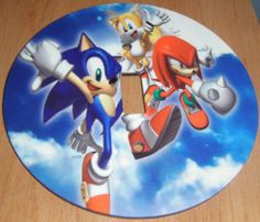 Sonic The Hedgehog Light Switch Cover 5 Inch Round 12 Cms Plate Switchplate