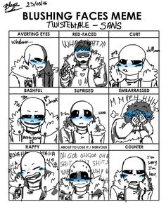 TWISTED!Sans~Blushing Meme~ by BlazePandora on DeviantArt