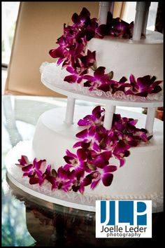 Tropical Paradise Wedding Cake Each Flower Is Made From Sugar