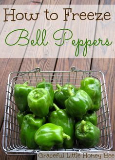 Freezing bell peppers is a fast and easy way to preserve the harvest. Follow this step-by-step tutorial on how to freezer bell peppers.