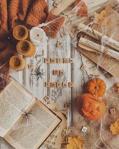 Trick or treat #fall #halloween #autumn Fall Halloween, Happy Halloween, Halloween 2019, Autumn Flatlay, Autumn Cozy, Autumn Fall, Autumn Leaves, Winter, Thanksgiving Wallpaper