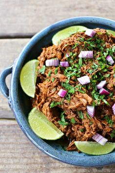 Garlicky, tender, shredded beef braised low and slow in a spicy, smoky, flavourful barbecue sauce.