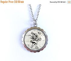 ON SALE Girl stencil necklace, glass dome pendant, cabochon picture long necklace, white black image pendant, romantic photo jewelry, gift f