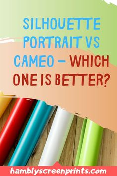 Which is a better cutting machine from Silhouette? Silhouette Portrait or Cameo? Find out the answer here! #silhouette #silhouetteportrait #cameo #cuttingmachine Silhouette Portrait Machine, Cricut, Craft Cutter, Used Vinyl, Vinyl Shirts, Text Style, Vinyl Cutting, Feeling Overwhelmed, Personalized T Shirts