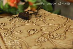 Porta-cartas - Stencil e Massa Acrílica - HomeDecor - Recortes AMJ  Visite nossa loja virtual: www.artemadeirajoinville.com.br