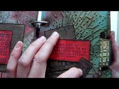 ▶ Tim Holtz Texture Fades Note Book Project - YouTube